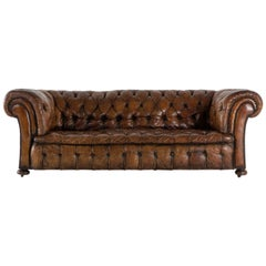 Large Leather Chesterfield, circa 1900
