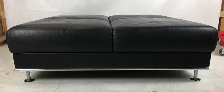 Modern Huge Leather Ottoman by Matteograssi, Italy For Sale