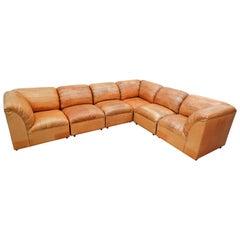 Large Leather Sofa, 1960s