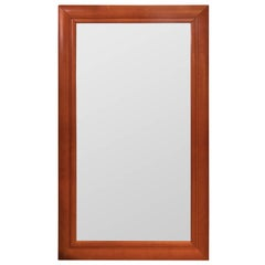 Large Leather Wrapped Mirror