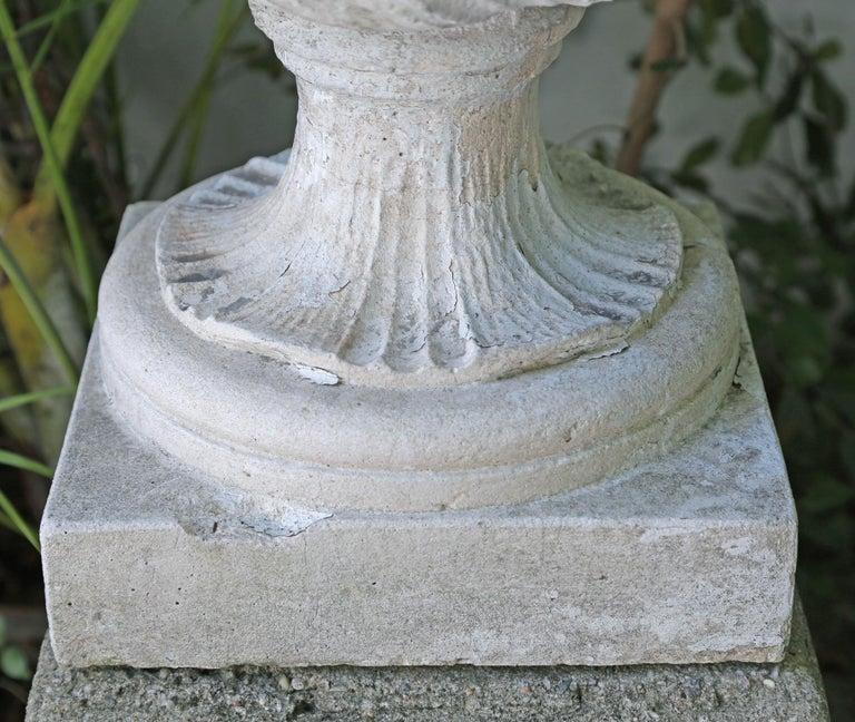 Unknown Large Limestone Ornamental Urn For Sale