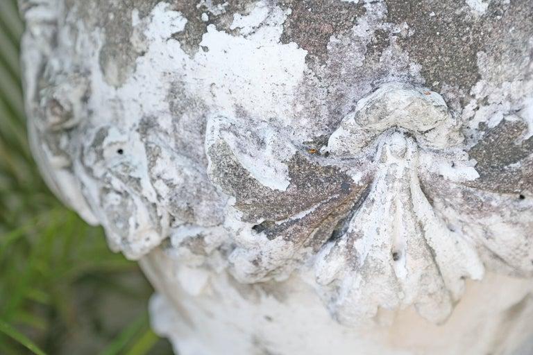 20th Century Large Limestone Ornamental Urn For Sale