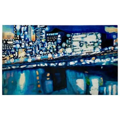 Large London Skyline Abstract Painting