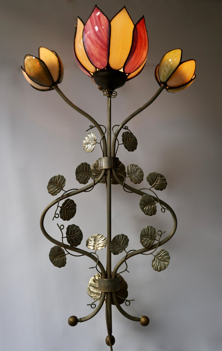 Large Lotus Flower Wall Lamp In Good Condition For Sale In Antwerp, BE