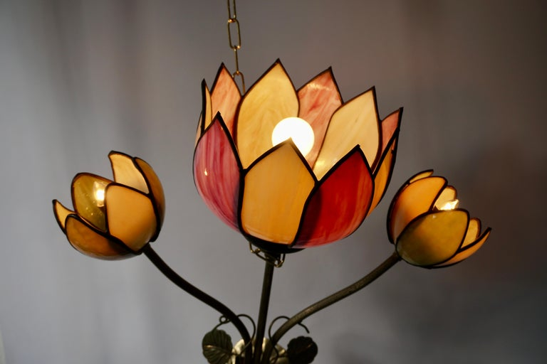 Large Lotus Flower Wall Lamp For Sale 1