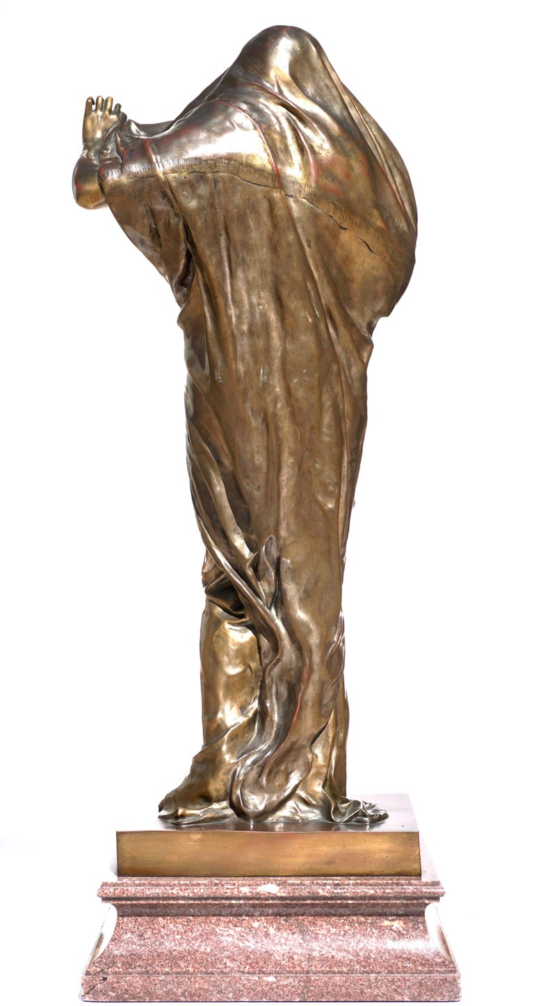 """Bronze Large Louis Ernest Barrias """"Nature Revealing Herself Before Science"""" For Sale"""