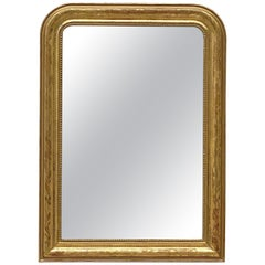 Large Louis Philippe Arch Top Gilt Mirror (H 42 1/2 x W 30 1/2)