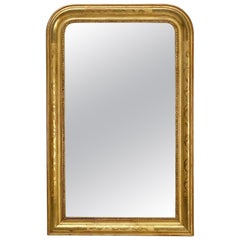 Large Louis Philippe Arch Top Gilt Mirror (39 3/4 x W 25 1/8)