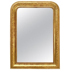 Large Louis Philippe Arch Top Gilt Mirror (H 39 x W 28 1/2)