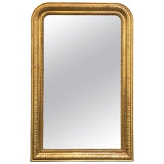 Large Louis Philippe Arch Top Gilt Mirror (H 53 1/2 x W 34 1/2)