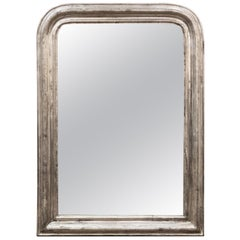 Large Louis Philippe Silver Gilt Mirror
