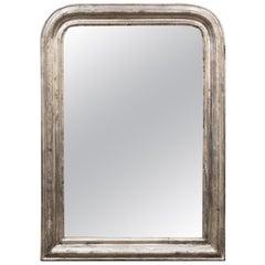 Large Louis Philippe Silver Gilt Mirror (H 42 3/4 x W 30 1/2)