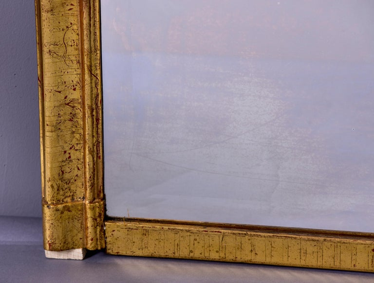 French Large Louis Phillippe Gilt Mirror with Crest For Sale