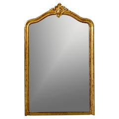 Large Louis Phillippe Gilt Mirror with Crest