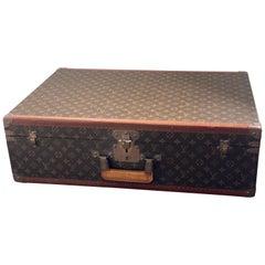 Large Louis Vuitton Alzer Monogram Trunk Suitcase