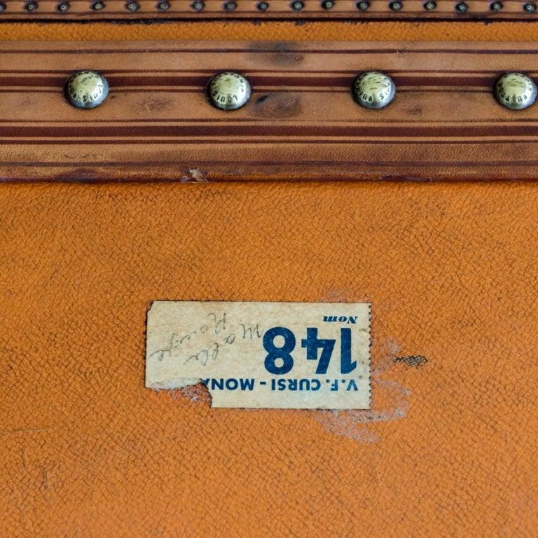 Large Louis Vuitton Orange Steamer Trunk, circa 1925 For Sale 14
