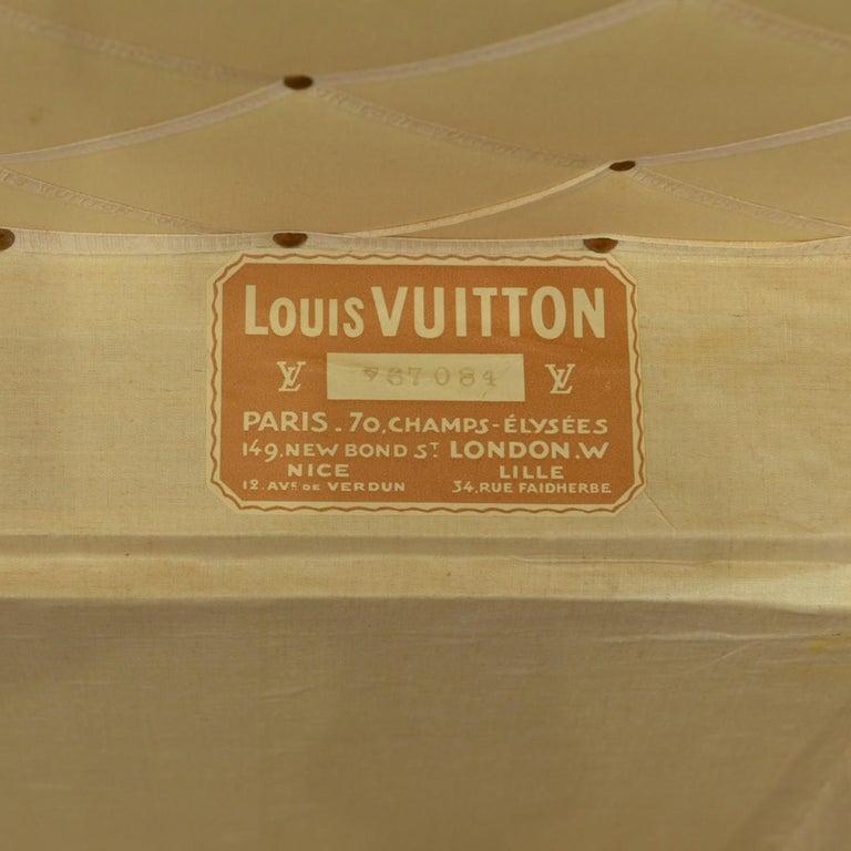 Large Louis Vuitton Orange Steamer Trunk, circa 1925 For Sale 2