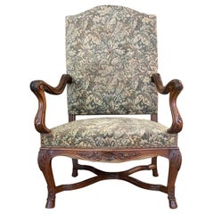 Large Louis XIV, Regency, Style Armchair, 19th Century