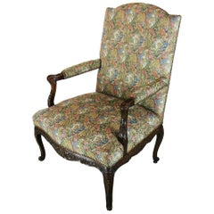 Large Louis XV Regence Style Tapestry Armchair