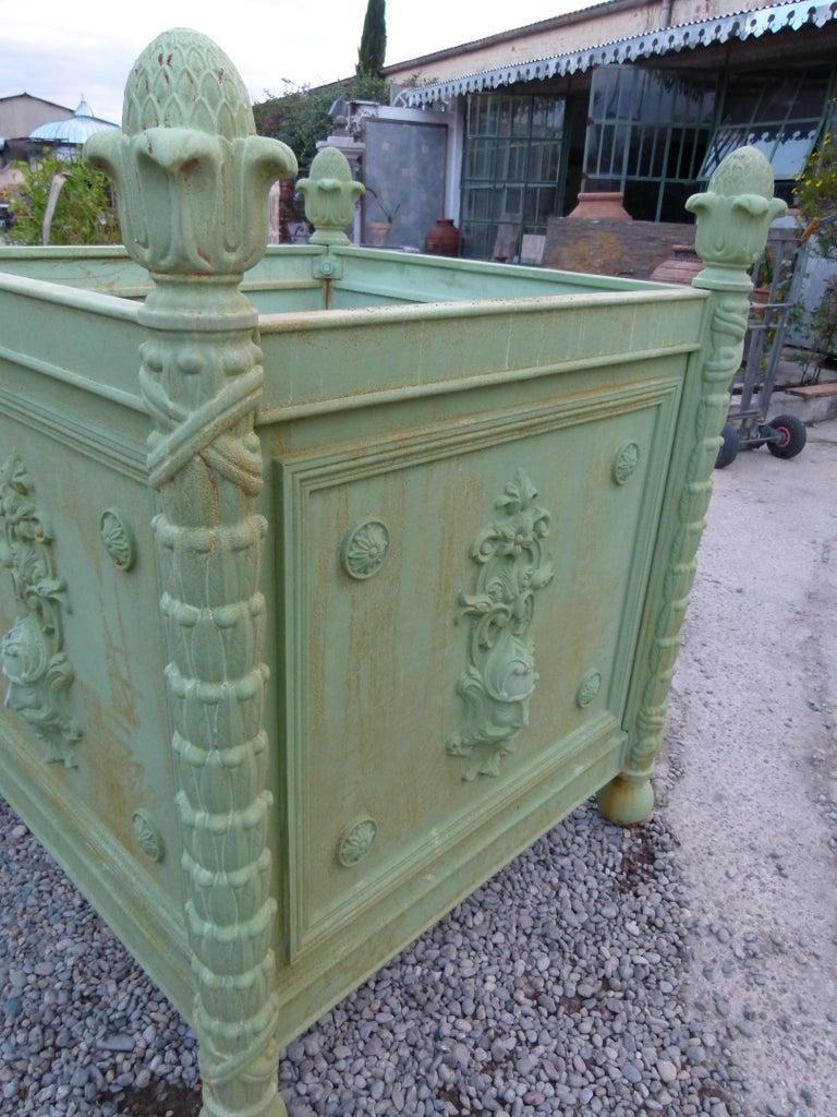 Large Louis XV Style Cast Iron Jardinières For Sale 12
