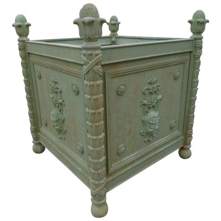 Large Louis XV Style Cast Iron Jardinières For Sale