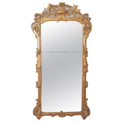 Large Louis XV Style Painted and Gilded Mirror