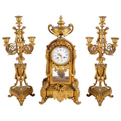Large Louis XVI Style Clock Set