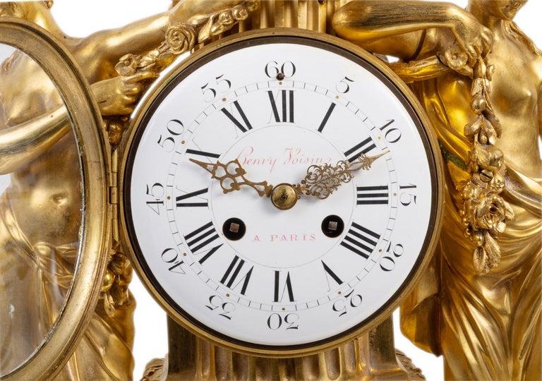 Large Louis XVI Style Ormolu Mantel Clock, 19th Century For Sale 1