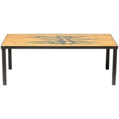 Large Low Ceramic Coffee Table Designed by Michalinka Stuart, circa 1970