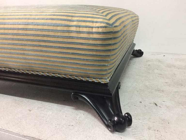 Wood Large Low Ottoman by Baker Furniture For Sale