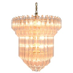 Large Lucite Chandelier, Six Tiers, 1970s