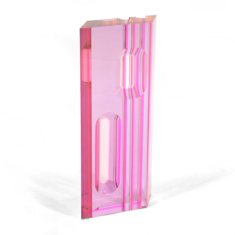 American Large Lucite Sculpture in the Manner of Vasa Velizar Mihich For Sale