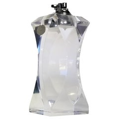 Large Lucite Table Lighter by Ritts Co. LA and Astrolite Products