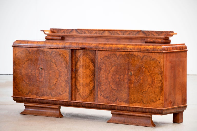 20th Century Large & Luxurious French Art Deco Buffet, 1930s For Sale