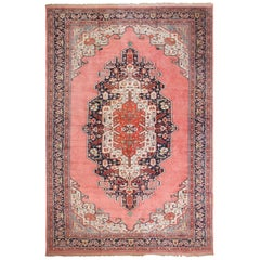 Large Luxurious Vintage Persian Silk Heriz Rug. Size: 13 ft 1 in x 19 ft