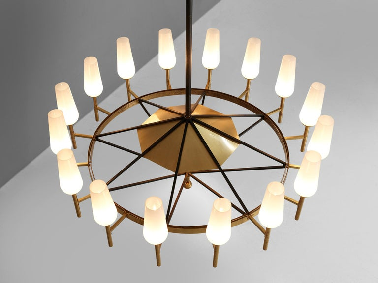Large Luxus Chandelier by Uno and Östen Kristiansson For Sale 3