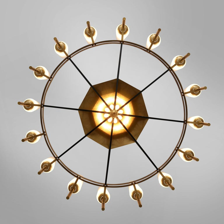 Large Luxus Chandelier by Uno and Östen Kristiansson For Sale 4