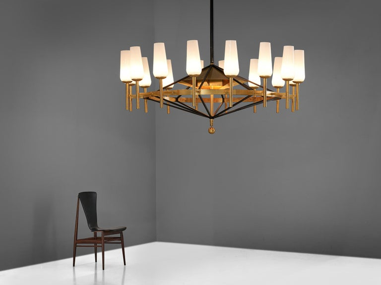 Large Luxus Chandelier by Uno and Östen Kristiansson For Sale 5