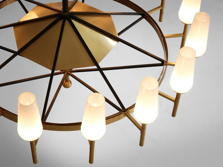 Large Luxus Chandelier by Uno and Östen Kristiansson For Sale 2