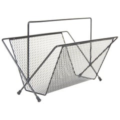 Large Magazine Rack in the Manner of Mathieu Matégot
