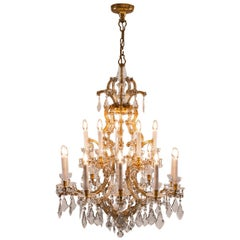 Large Magnificent Lobmeyr/Zahn Chandelier Original Maria Theresia Style, 1920s