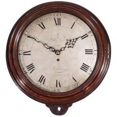 Large Mahogany 18th Century Dial Clock, William Nicoll, London