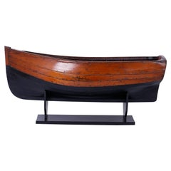 Large Mahogany Antique Boat Model
