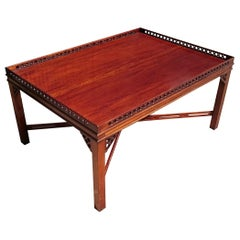 Large Mahogany Coffee Table in the Manner of Thomas Chippendale