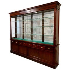 Joslin Showcase Company of Boston-Large Mahogany Display Cabinet