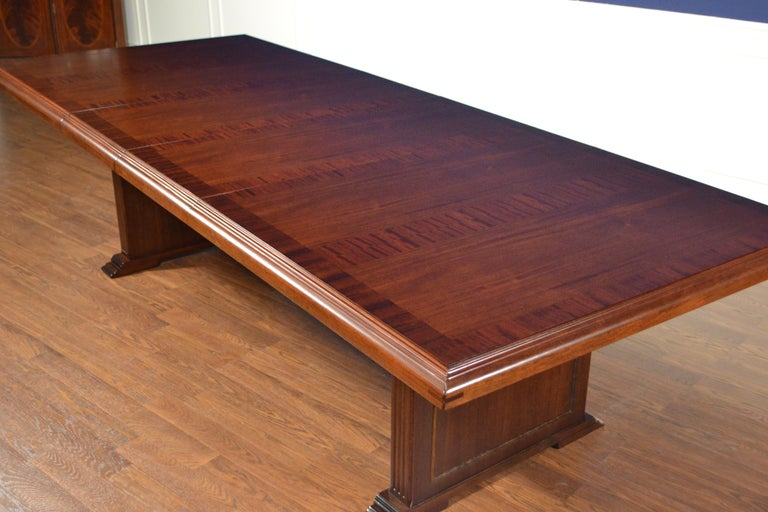 Contemporary Large Mahogany Rectangular Conference Table by Leighton Hall For Sale