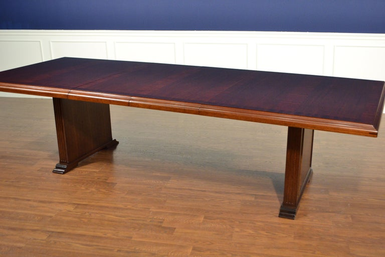 Large Mahogany Rectangular Conference Table by Leighton Hall For Sale 1