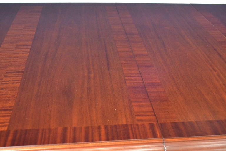 Large Mahogany Rectangular Conference Table by Leighton Hall For Sale 2