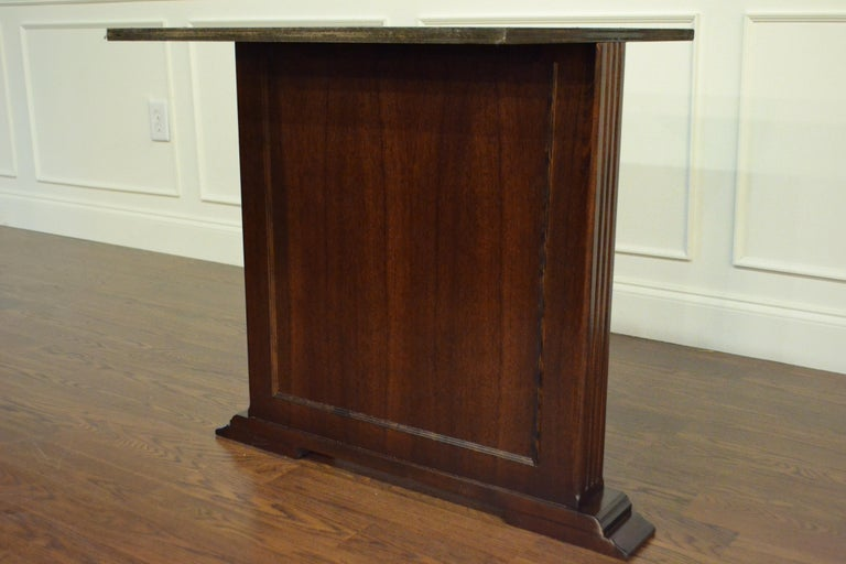 Large Mahogany Rectangular Pedestal Conference Table by Leighton Hall For Sale 7