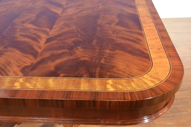 Contemporary Large Mahogany Regency-Style Banquet Dining Table by Leighton Hall For Sale